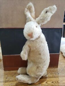 1920's Steiff Large Standing Mohair Bunny Rabbit with FF Button