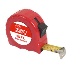 Red ABS Case 25-ft Top Forward Steel Blade Lock Tape Measure with Belt Clip
