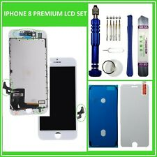 LCD Display für iPhone 8 RETINA HD BILDSCHIRM FRONT 3D TOUCH SCREEN WEISS WHITE