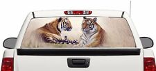 Tiger art rear window graphics Decal Sticker 50/50view 66''x22'' Truck
