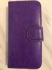 Purple Premium Leather Wallet Book Case Cover For Apple iPhone 5S/5c/5se