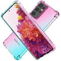 Coque Pour Samsung Galaxy S21 + Ultra Étui TPU Gradient + Verre Trempé