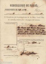 Spanish Colonial Document / Ordenacion De Pagos Arecibo Puerto Rico / 1891 #1