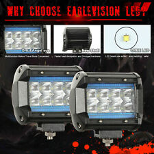 4in 200W Offroad Lorry Pickup Blue DRL Driving Fog Lamp Combo LED Work Light Bar