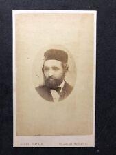Victorian Carte De Visite CDV: Flather: London: Man Velvet Smoking Hat? Jewish?