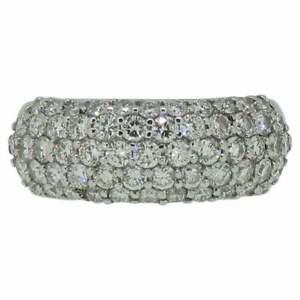 Pave Set Diamond Domed Ring 18 Carat White Gold 1.50 Carat