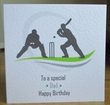 Personalised Handmade Cricket Sports Birthday Card Son Grandson Dad Grandad