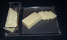 Acrylic Cheese and Crackers Tray. 12 by 9 inches. In Excellent Condition.