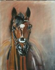 Original Oil Painting Frankel Horse ,racing,equine,equestrian,sport,Animal,