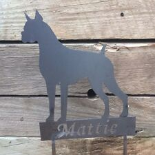 Metal Dog Yard Stake Sign