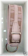 New Authentic LACOSTE KEY RING KEY FOB Chantaco Jaquard 1 Sand Beige
