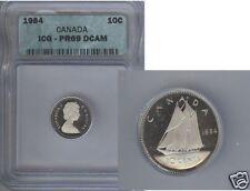 1984 CANADA TEN CENTS ICG PR69 D CAMEO