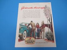 1948 The General Tire & Rubber Co. Akron New Squeegee Tires Print Ad PA001