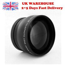 58mm 2x Super Telephoto Converter Lens for Canon Nikon All Digital Cameras