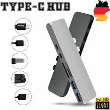 1x 7in1 USB-C HUB Type C 4K HDMI USB 3.0 Adapter Kartenleser Für MacBook Pro Air