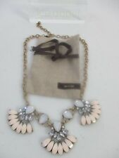 Lee By Lee Angel Pink Petal Cabochon  Statement Necklace NWT $98 Nordstrom