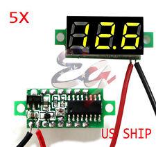 5X Mini Green DC 0-30V LED Display Digital Voltage Voltmeter Panel Breadboard