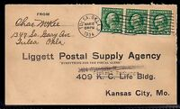 1934 Tulsa, Oklahoma to Kansas City, MO - Liggett Postal Supply Agency - 498e