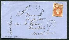 SOUTH AUSTRALIA: (10044) rail/TOO-LATE/UNCLAIMED cancel/cover