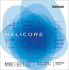 D'Addario Helicore Orchestral Bass String Set, 1/10 Scale, Medium Tension