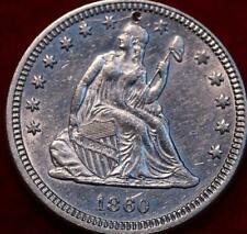 1860 Philadelphia Mint Silver Seated Liberty Quarter