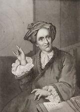 Bernard Le Bouyer de Fontenelle gravure sur acier XIXe France