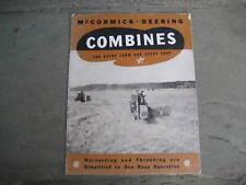 1940's McCormick-Deering Combines Brochure.....International Harvester Co.
