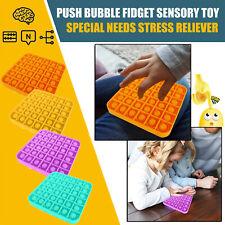 Push Bubble Fidget Sensory Toy Autism Special Needs Stress Reliever