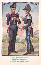 # GENIO MILITARE ITALIANO- SOTTUF. AL CORPO 1836 E UFF. 1839- dis. BESI