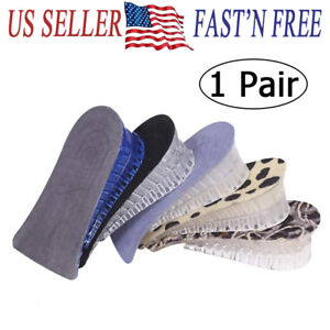 Silica gel Shoe Insole Lift Heel Inserts unisex 2 Layer Height Increase 3.5CM