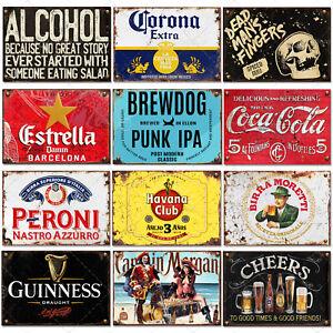 Signs Metal Plaque Aluminium Vintage Pub Tiki Bar Home Cafe Wall Beer Retro Club