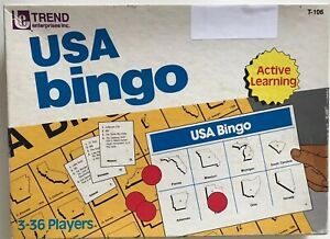 USA Bingo, Game for Active Learning by Trend Enterprises Complete