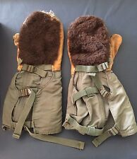 Vintage 1950s Air Crew Mitten Style Gloves MIL-G-6269B Aviators Clothing Large