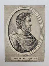 Burin original, Portrait de Pierre de Ronsard, Esme de Boulonois