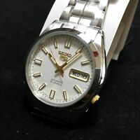SEIKO 5 SNKE81J1 SNKE81 Automatic 21 Jewels White Dial Stainless Steel Men Watch