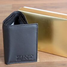 Wholesale Lot of 3 Men's Wallets Genuine Leather Black Trifold  US Seller