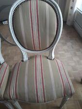 4 chaises médaillons LOUIS 16 bonne état occasion