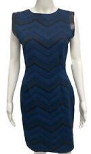 BAR III women's formal dress blue black sleeveless size L