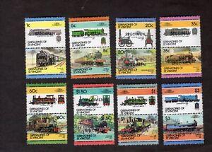 Grenadines of St Vincent: Railway Locomotives (2nd); mint set overprint SPECIMEN