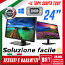 PC MONITOR SCHERMO LCD 24 POLLICI 16:9 FULL HD 1080p(DELL,LG,HP DVI VGA_BUONO 23