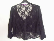 New Look Inspire Ladies Lace Top Black Size 18