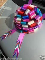30cm MULTICOLORED Giant Bow for Large Present Party Decor New car gift bow 12""