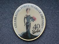 VINTAGE METAL PIN  BARBIE DOLL CELEBRATING 40 YEARS OF DREAMS
