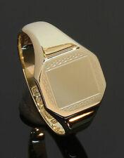 9 Carat Yellow Gold Ladies Octagonal Signet Ring Size M (80.20.101)