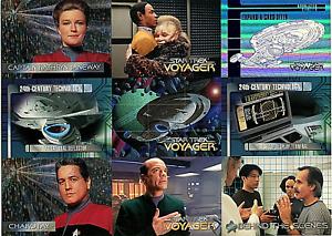 Star Trek Voyager (Skybox–1995) Nine Card Uncut Promo Sheet -New
