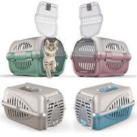 Premium Pet Carrier Kitten Cat Dog Rabbit Transport Travel Box Cage Vet Case UK