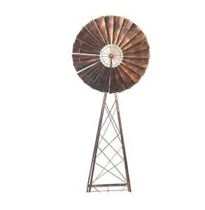 NEW 180cm TALL Farm Style Shaped Bronze Windmill Wind Spinner Garden Decor
