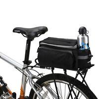 Cycling Bicycle Storage Handbag Pannier Saddle Rack Rear Shoulder Seat Bike Bag
