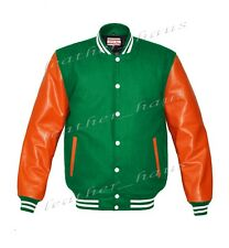 Genuine Leather Sleeve Letterman College Varsity Men Wool Jackets #ORSL-WSTR-WB-