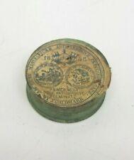 Dated 1858 J Goldmark PERCUSSION CAPS Cardboard TIN 100ct